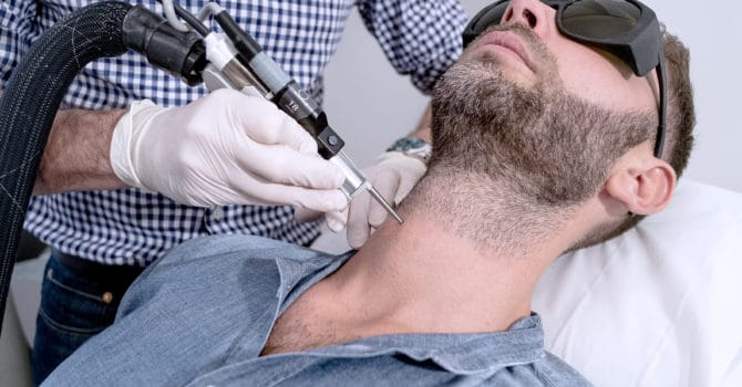 Epilation laser homme barbe à Lyon