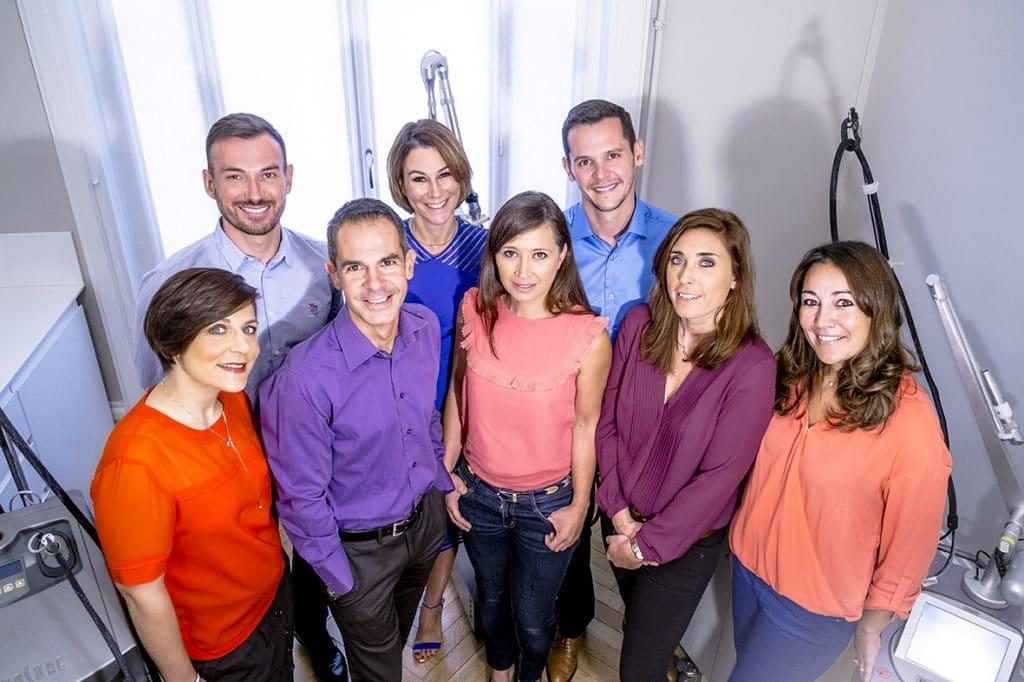 équipe médicale du centre laser de Lyon